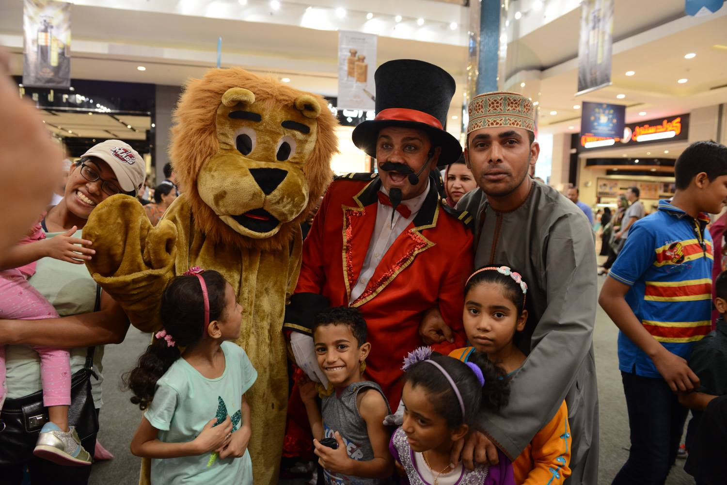 Circus Ringmaster & Lenny MGM Mall Muscat