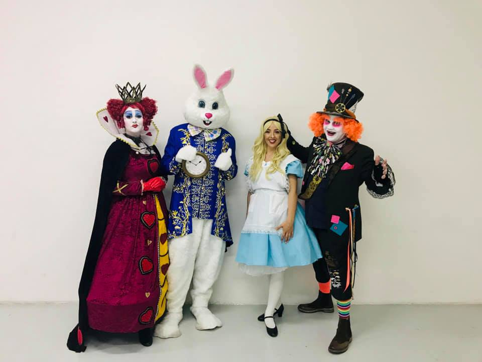 Queen Of Hearts, White Rabbit, Alice & Mad Hatter