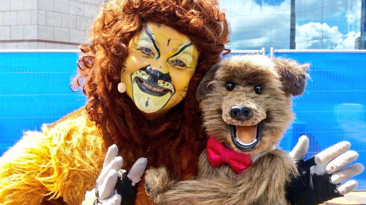 Our Cowardly Lion (Paul) with Hacker T Dog - CBBC Event Birmingham