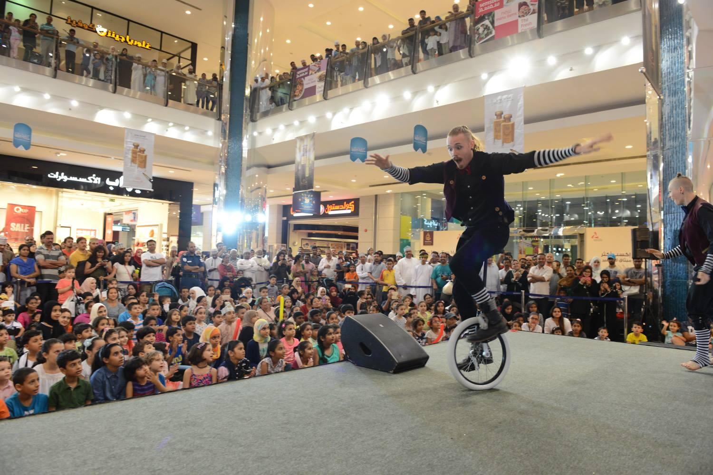 Unicyclist MGM Mall Muscat