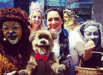 Wizard Of Oz Cast with Hacker T Dog - CBBC Awesome Authors Event