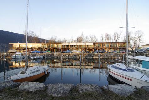 neubau gewerbe- und wohnhaus im barkenhafen