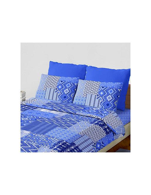 "Set sabana ""rafaelo"" 144 hilos color ""azul"" king"