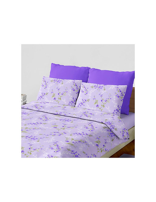 "Set sabana ""laurent"" 144 hilos color ""violeta"" king"