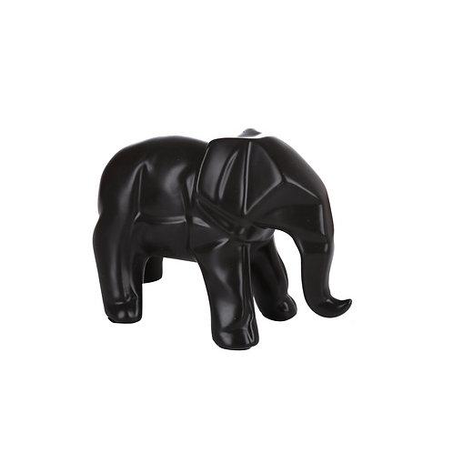 Elefante Geo Cerámica Color Negro