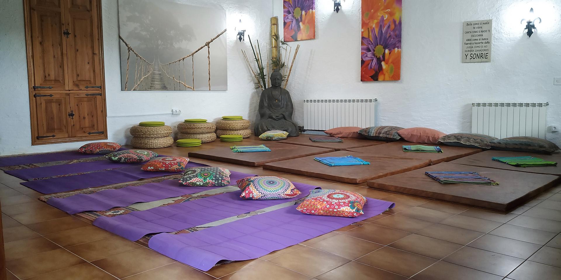 Sala preparada para ioga
