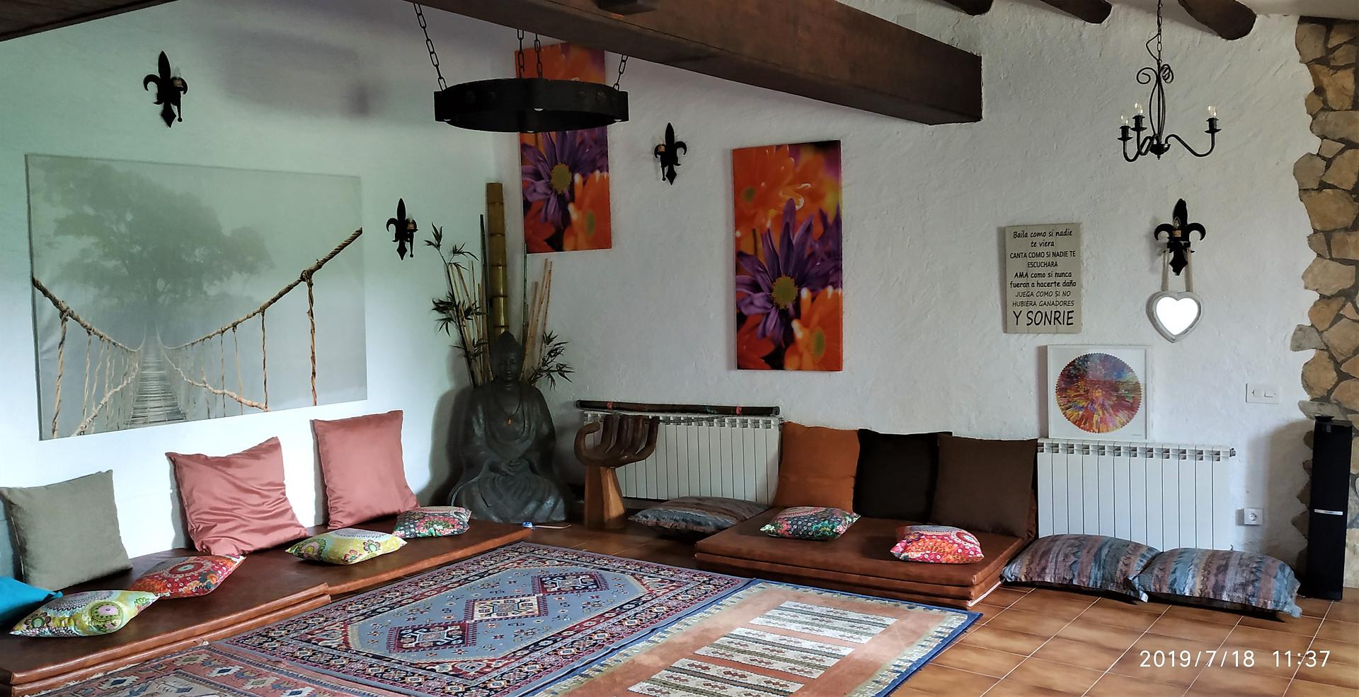 Sala detalle para meditacion