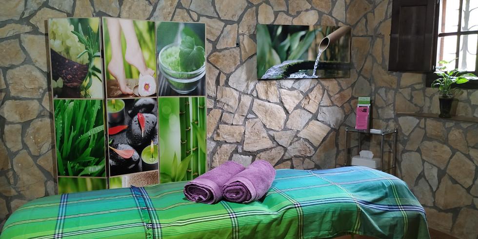 Detalle sala terapias y masaje