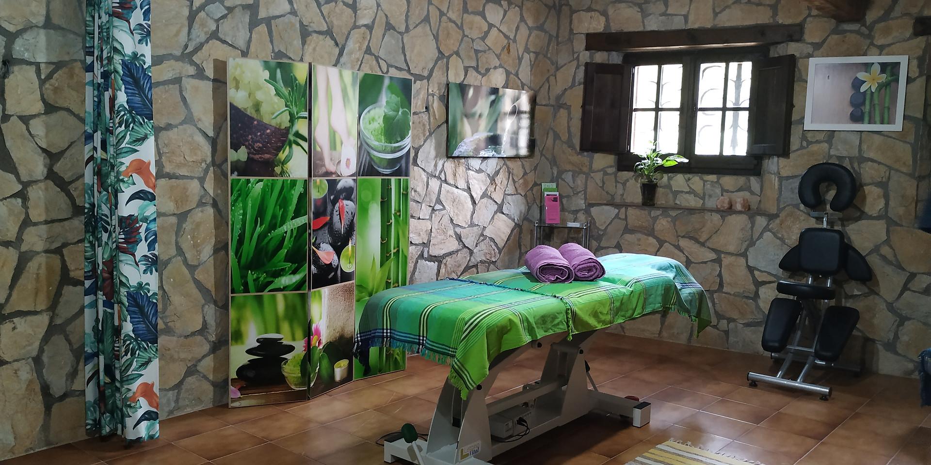 Sala terapias y masaje