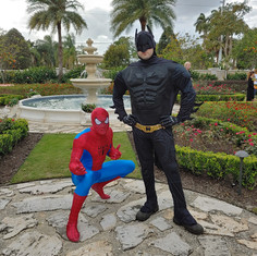 Spider Guy and Bat Guy