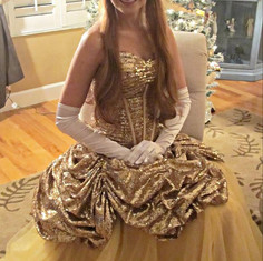 Belle- Gold Dress