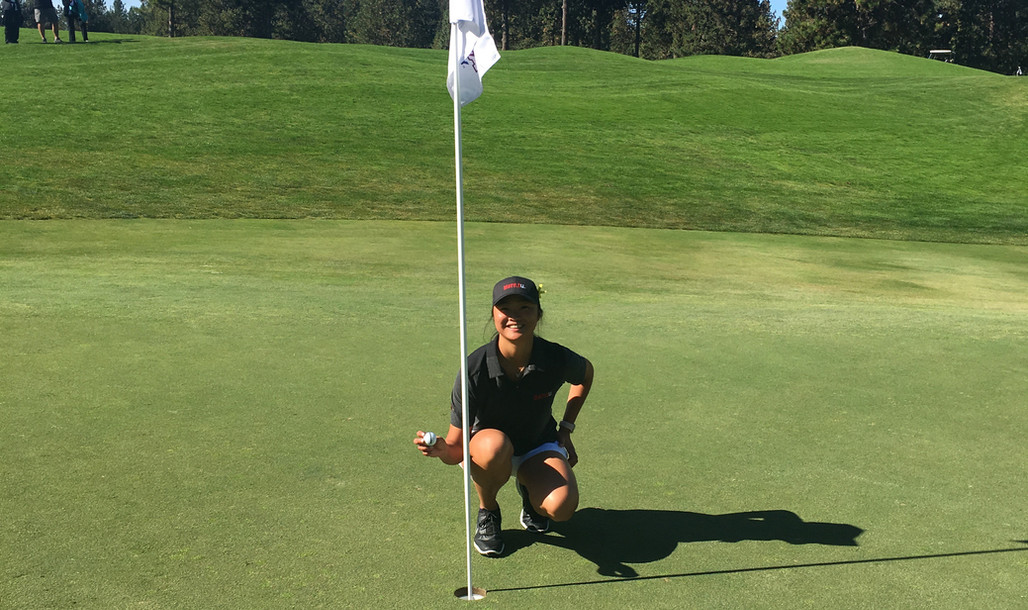 Linette Holes Out for Eagle Fall 2018 Go