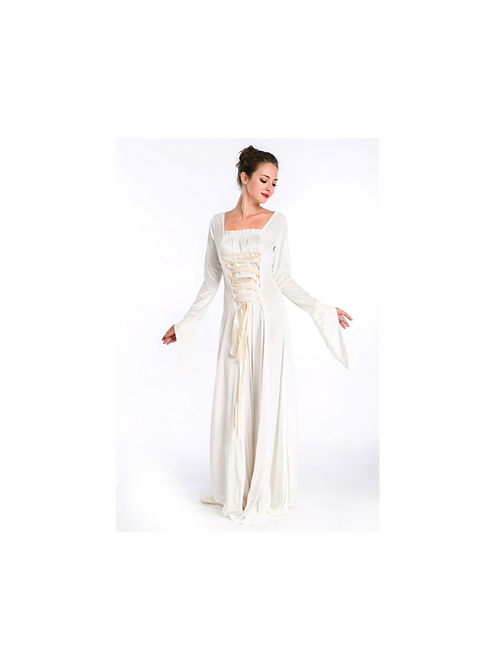 WHITE MEDIEVAL DRESS - RENTAL FEE $40.00