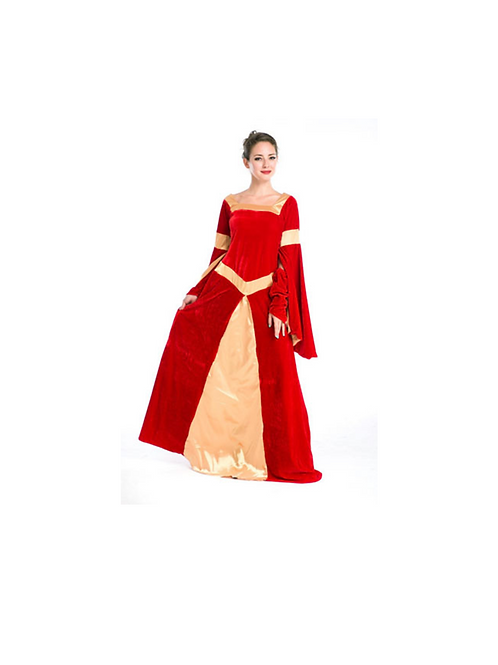 RED MEDIEVAL DRESS: RENTAL FEE: $ 40.00