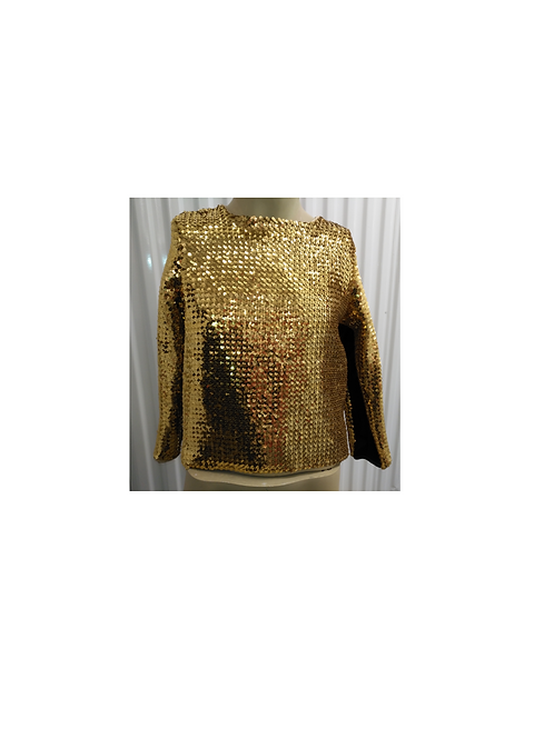 GOLD SEQUIN TOP - RENTAL FEE $ 35.00