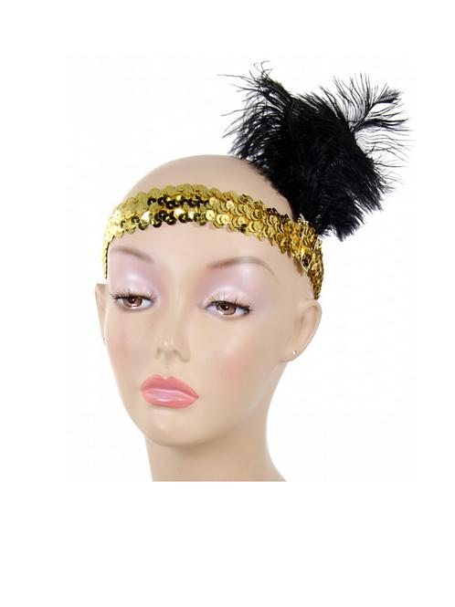 Sequin Flapper Feather Headpiece