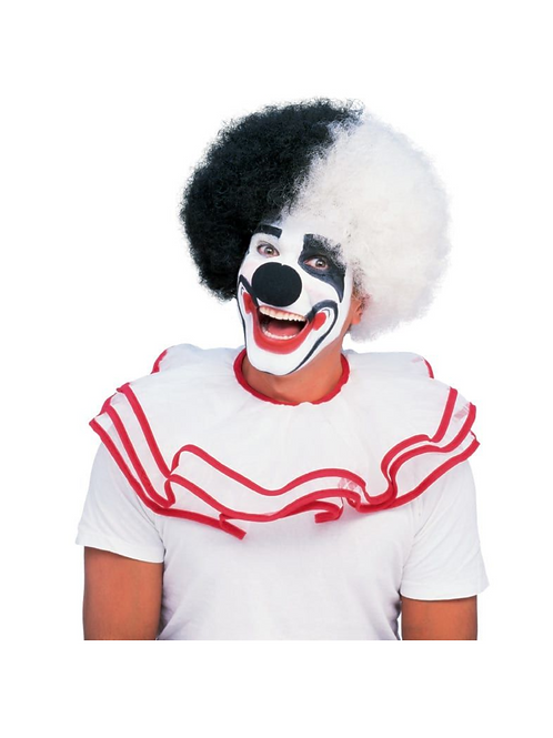DELUXE BLACK AND WHITE CLOWN WIG