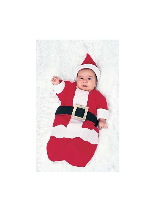BABY SANTA BUNTING