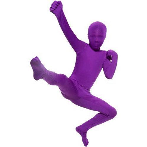 child purple morph suit