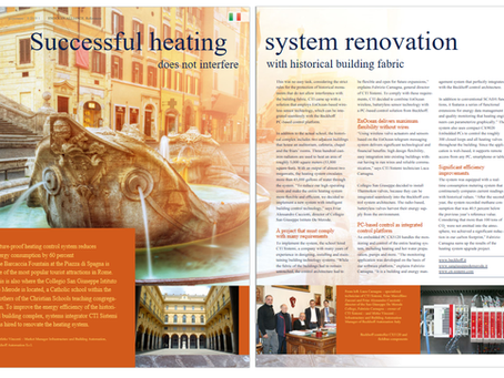 "Pubblicazione nostro sistemi rivista Enocean Perpetuum distribuita a ""ISH di Francoforte"""