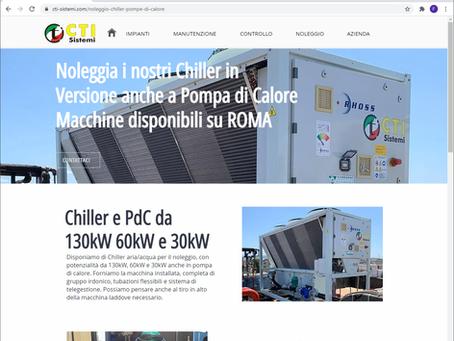 Noleggio Chiller 130kW 60kW e 30kW