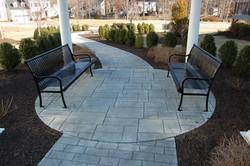 Commercial Cobblestone Sitting Area