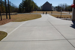 Residential Broom Finished Driveway