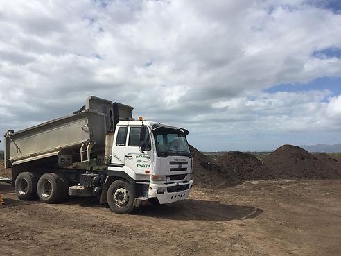Truck dumping at McCahill's.