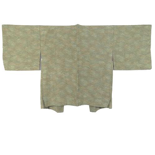 Vintage Japanese Kimono Jacket / Haori / Komon / Tsuyushiba / Kawari-Chirimen