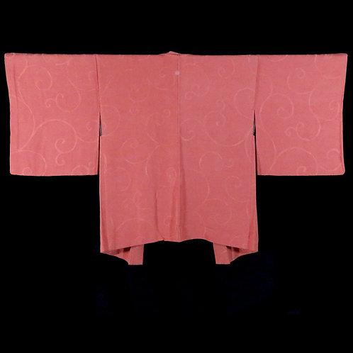 Vintage Japanese Kimono Jacket / Haori / Karakusa / Mon-Isho