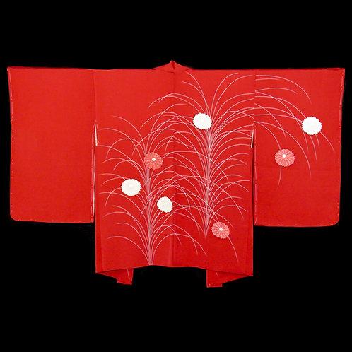 Vintage Japanese Kimono Jacket / Haori / Ebaori / Koma-Rinz / Chrysanthemum