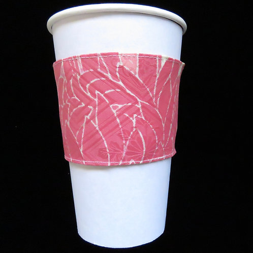 Re-usable Cup Sleeve / Chrysanthemum / Pink