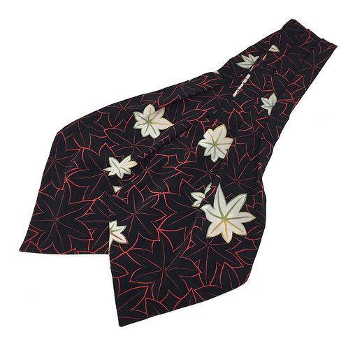 Cravat made from Vintage Japanese Kimono / Hutakoshi-Chirimen