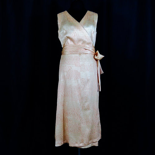 Women's Silk Wrap Dress made from Vintage Kimono / Shibori / Silk