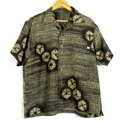 Men's Hawaiian Shirt made from vintage Kimono / Silk / Shibori