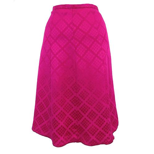 Eight Paneled Skirt made from Vintage Japanese Kimono / Komon