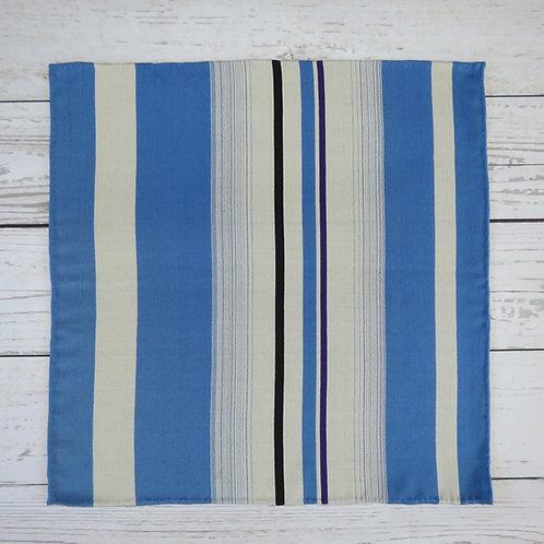 Pocket Square made from Vintage Japanese Kimono / Stripe