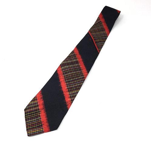 Neck Tie made from Vintage Japanese Kimono / Meisen