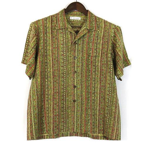 Men's Hawaiian Shirt made from vintage Kimono / Silk / Komon