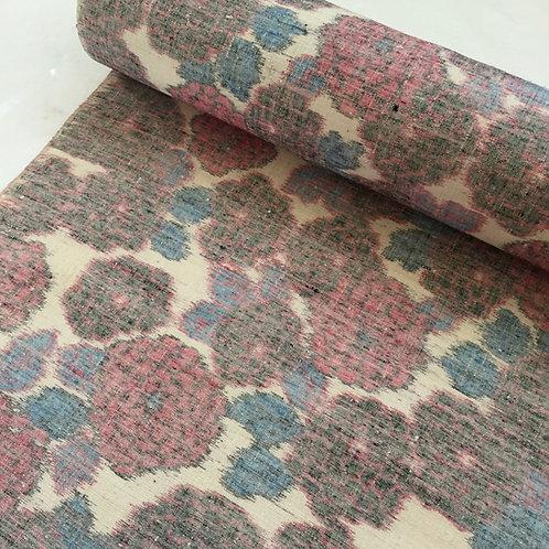 Vintage Silk Kimono Fabric by Yard / Tsumugi / Flower