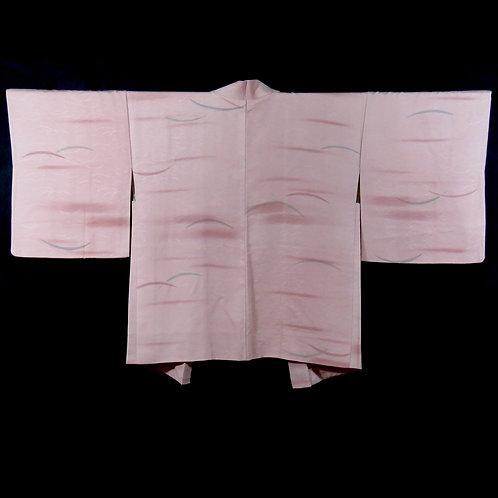 Vintage Japanese Kimono Jacket / Haori / Komon / Tsuyushiba / Mon-Isho