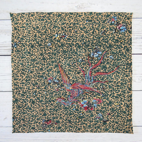 Pocket Square made from Vintage Japanese Kimono / Phoenix
