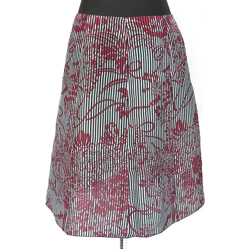 Eight Paneled Skirt made from Vintage Japanese kimono Stripe