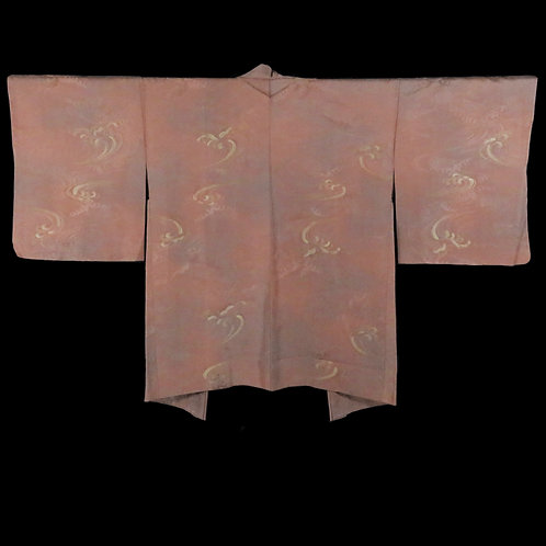 Vintage Japanese Kimono Jacket / Haori / Ryusui / Mon-Isho