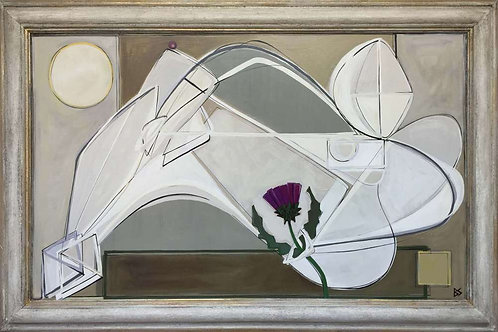 Reclining Nude and Thistle