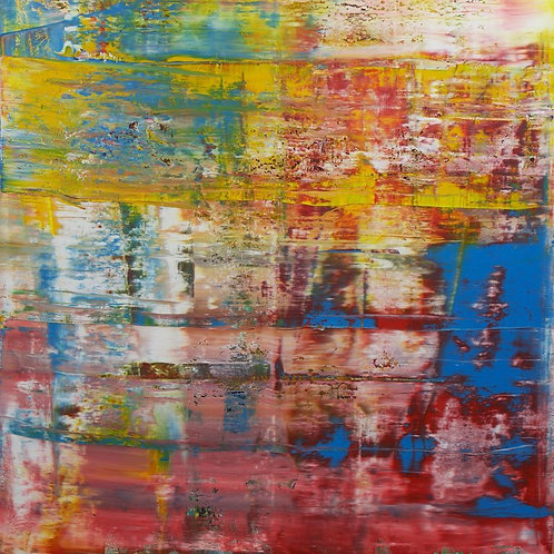 large abstract blue red #349