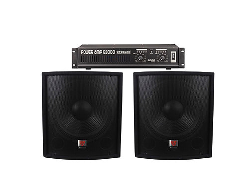 "2 Rockville SBG1158 15"" 800 Watt Subwoofers w/ Amp Package"