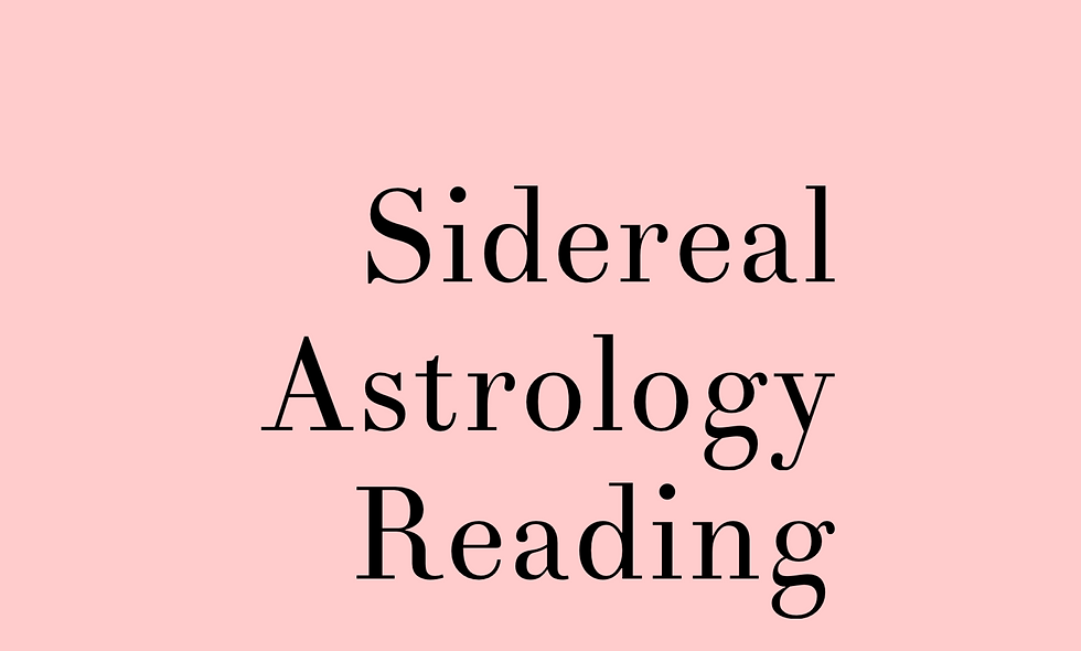 Sidereal Astrology Birth Chart Reading