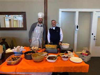 Thanksgiving potluck-JD and Jordan.jpg
