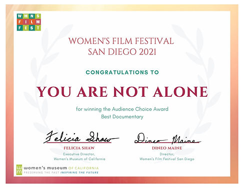 WFFSD '21 Certificate - YOU ARE NOT ALONE.jpg